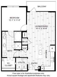 A10 Floor Plan at Windsor CityLine