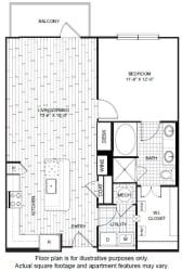 A11 Floor Plan at Windsor CityLine