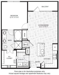 A8 Floor Plan at Windsor CityLine