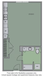 A Floor Plan at Olympic by Windsor