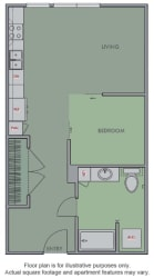 B Floor Plan at Olympic by Windsor