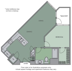 C Floor Plan at Olympic by Windsor