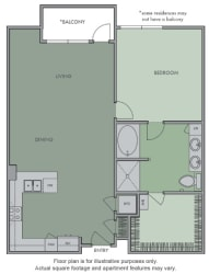 G(1) Floor Plan at Olympic by Windsor