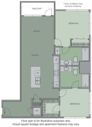 I(1) Floor Plan at Olympic by Windsor