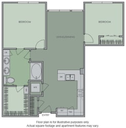 J Floor Plan at Olympic by Windsor