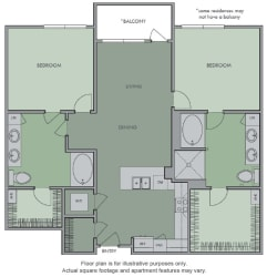 K(1) Floor Plan at Olympic by Windsor