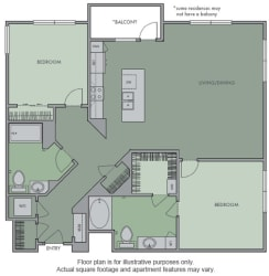 L Floor Plan at Olympic by Windsor