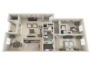 Floor Plan 1 BDRM W DEN