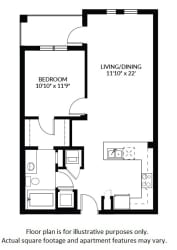 A2 Floor Plan at Windsor at Delray Beach, Delray Beach, FL