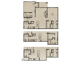 Floor Plan 2 Bedroom, 2 Bath 1084 sqft