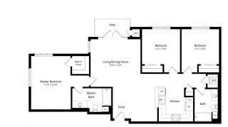 Floor Plan French 75