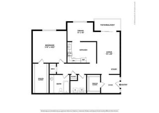 Floor Plan 1BR-1BA - A2
