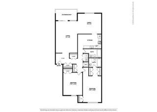 Floor Plan 2BR-2BA - B5