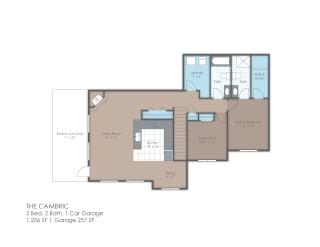 Two bedroom floor plan layout