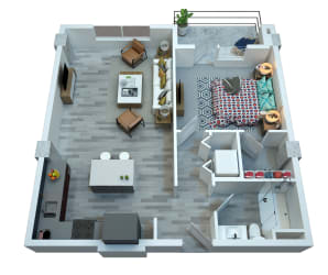 The Stewart One Bedroom Floor Plan - Costello