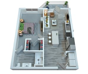 The Stewart One Bedroom Floor Plan - Frampton