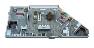 The Stewart Two Bedroom Floor Plan - Otis