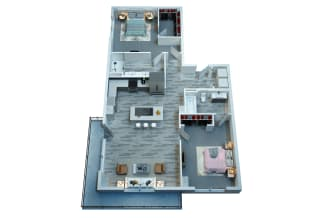 The Stewart Two Bedroom Floor Plan