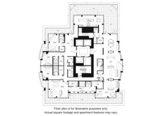 Floor plan at The Bravern, Bellevue, Washington