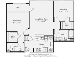 Floor plan at Dublin Station by Windsor, Dublin, CA, 94568