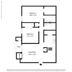 B2 - 2 bedroom 2 bath Floor Plan at Park at Caldera, Midland, Texas
