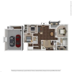 Floor Plan at Orion Prosper Lakes, Prosper, 75078