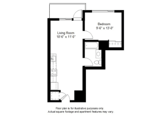 A3 floor plan at Windsor at Dogpatch, San Francisco, CA