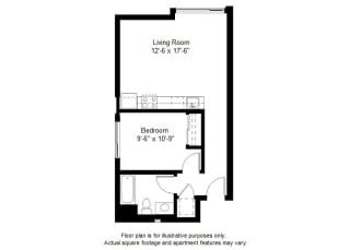 A4 floor plan at Windsor at Dogpatch, CA, 94107