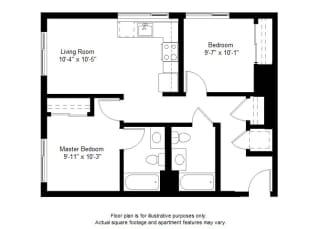 B6 floor plan at Windsor at Dogpatch, San Francisco, California
