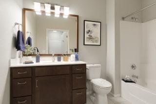 Custom Vanity Lights In Bathroom at Waterstone Place, Minnesota, 55305
