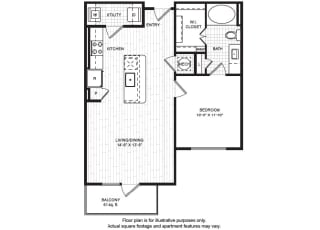 A3(1) Floor Plan at Windsor Old Fourth Ward, Atlanta