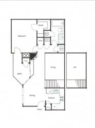 1x1 - Phase I (720-755 sq ft)1