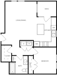 ViA Apartments Orchid Floor Plan