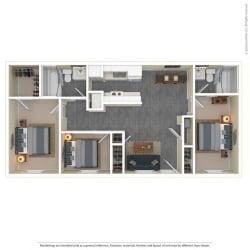 The Grove Apartments Floor Plan Model3A
