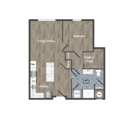 A16A Floor Plan at Park Kennedy, Washington