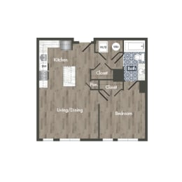 A3A Floor Plan at Park Kennedy, Washington