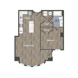 A4A Floor Plan at Park Kennedy, Washington, Washington