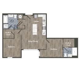 B4B Floor Plan at Park Kennedy, Washington
