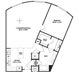 A12a Floor Plan at 800 Carlyle, Virginia, opens a dialog