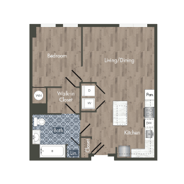 A12H Floor Plan at Park Kennedy, Washington