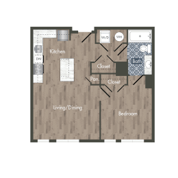 A5A Floor Plan at Park Kennedy, Washington