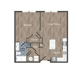 A9A Floor Plan at Park Kennedy, Washington, Washington