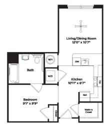 533 square foot studio apartment