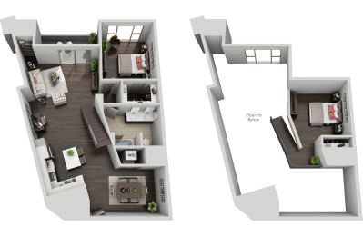 One Bed, One Bath Loft Penthouse at The Mansfield at Miracle Mile, Los Angeles