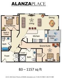 Chambord two bedroom two bathroom