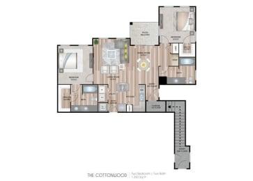 Cottonwood two bedroom two bathroom