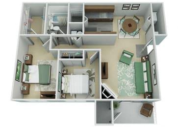 Verona Apartment Homes  2 Bedroom 1 Bath Apartment