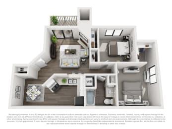 Floor Plan B10a 2 Bed 1 Bath
