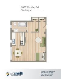 466-Square-Foot-Studio-Apartment-Floorplan-Available-For-Rent-2800-Woodley-Road
