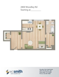 551-Square-Foot-Studio-Apartment-Floorplan-Available-For-Rent-2800-Woodley Road